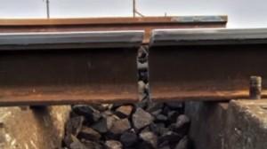 Illustration d'un rail cassé
