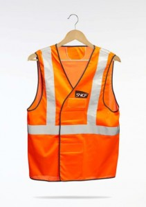 Gilet orange SNCF Infra