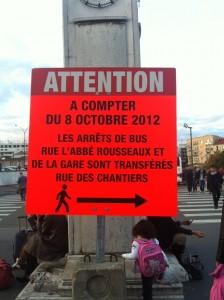 Info Travaux à la sortie de la gare de Versailles Chantiers
