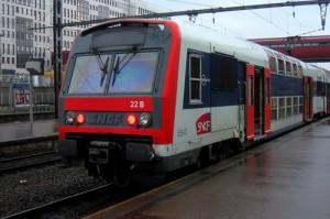 Photo d'un RER C à quai