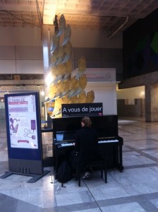 Piano mis à disposition en gare Montparnasse