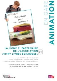 AFFICHE Animation Vitry Livres Echanges Ligne C