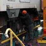 Rénovation des rames du RER C au technicentre de Saint-Pierre-des-Corps