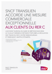 Mesures commerciales Brétigny RER C