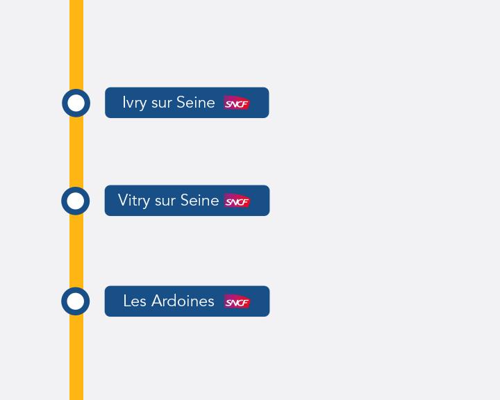 Le château de Versailles dans le RER C