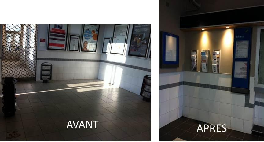 R novations des salles d 39 attentes des gares d 39 igny bouray for Renovation maison avant apres travaux