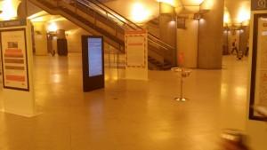 Espace dédié à la communication  des travaux de la Ligne C. Gare de Bibliothèque François Mitterrand.