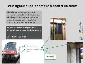Pour signaler une anomalie à bord d'un train